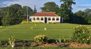 Outside Alnwick Castle Golf Club's Clubhouse