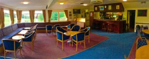 Inside Alnwick Castle Golf Club's Clubhouse